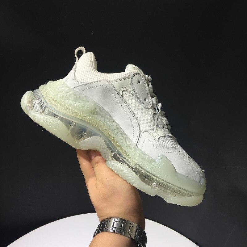 Zapatos para Mujer, zapatillas De plataforma con suela De cristal, Zapatos para Mujer, zapatillas De pareja De 35-44 con cordones, Zapatos De Mujer, Tenis Femenino
