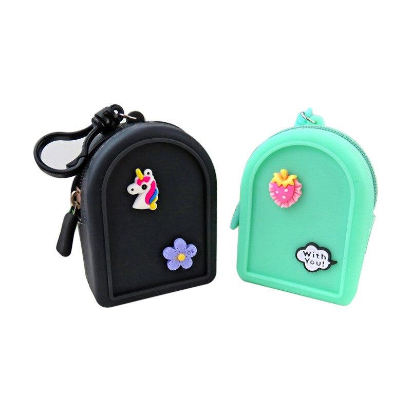 Silicone Coin Purse Korean-style Cute Mini Silica Gel Headset Storage Bag Clutch Bag