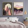 Скандинавский абстрактный Горный пейзаж, холст, живопись, плакаты и принты, настенное искусство, картина Осьминог для гостиной, домашний де...