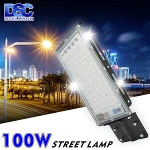100W LED Street Light AC 220V-240V Outdoor Floodlight Spotlight IP65 Waterproof Wall Light Garden Road Street Pathway Spot Light(China)