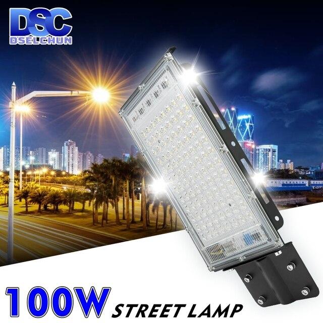 100W LED Street Light AC 220V-240V Outdoor Floodlight Spotlight IP65 Waterproof Wall Light Garden Road Street Pathway Spot Light