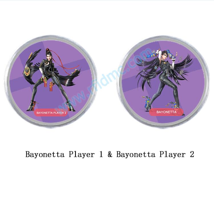 <font><b>NFC</b></font> <font><b>Amiibo</b></font> <font><b>Card</b></font> with Printing Work for <font><b>Switch</b></font> Bayonetta 2pcs image