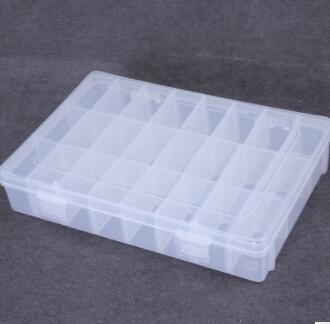 Hot Selling 24 Slots Plastic Storage Box Case Transparent Rectangle Organizer Beads Earring Jewelry Container 2017 New Arrival