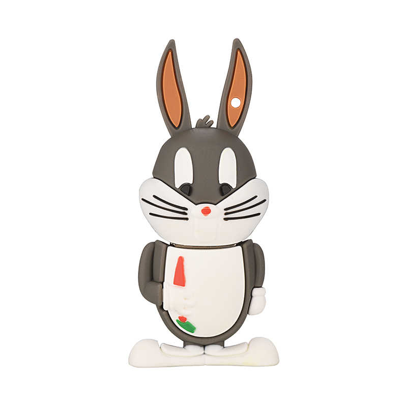 Serie de animales de dibujos animados gato León conejo unidad flash USB 2,0 128gb pendrive 4GB 8GB 16GB 32GB 64GB pen drive, regalo
