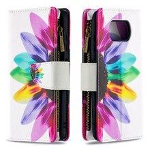 Poco X3 NFC M3 Pro 5G Wallet Case Multi Card Zipper Flip Cover for Xiaomi Poco F3 Case Mi Pocophone X 3 M 3 F Leather Shockproof