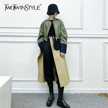 Clothing-Spring TWOTWINSTYLE Two-Trench Windbreaker Long-Sleeve Female Fashion Women