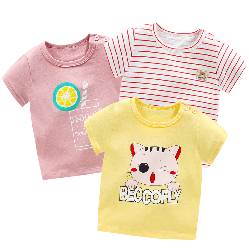 Clothes Baby T-shirt Kids Short Sleeve T Shirt Girls Top Boy Clothing Cotton Girls T-shirt Baby Girl Summer Shirt Flash Sales