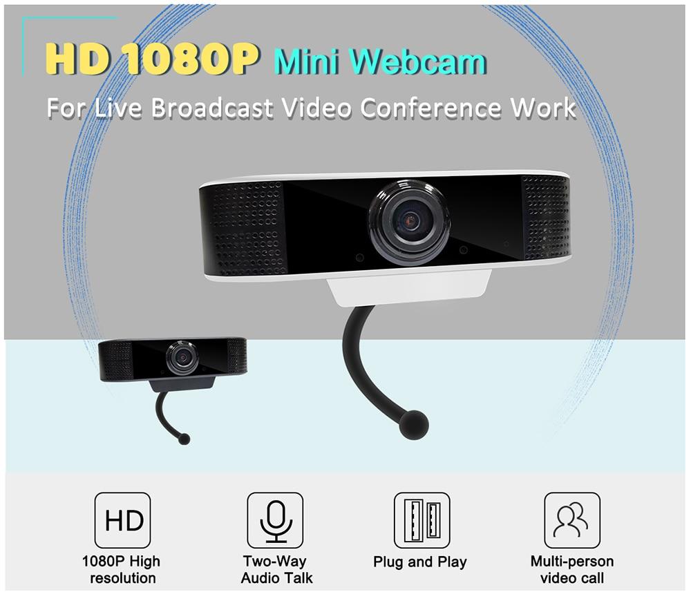 KERUI-caméra Web HD1080P 2 mp | Webcam USB, Microphone vidéo multi-personne, appels vidéo, diffusion en direct, pour caméra d'ordinateur