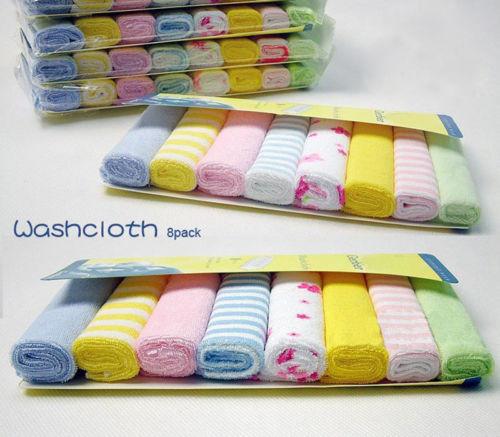 Soft Cotton Baby Towel Infant Newborn Bath Washcloth Kids Feeding Baby Wipes Cloth 8pcs