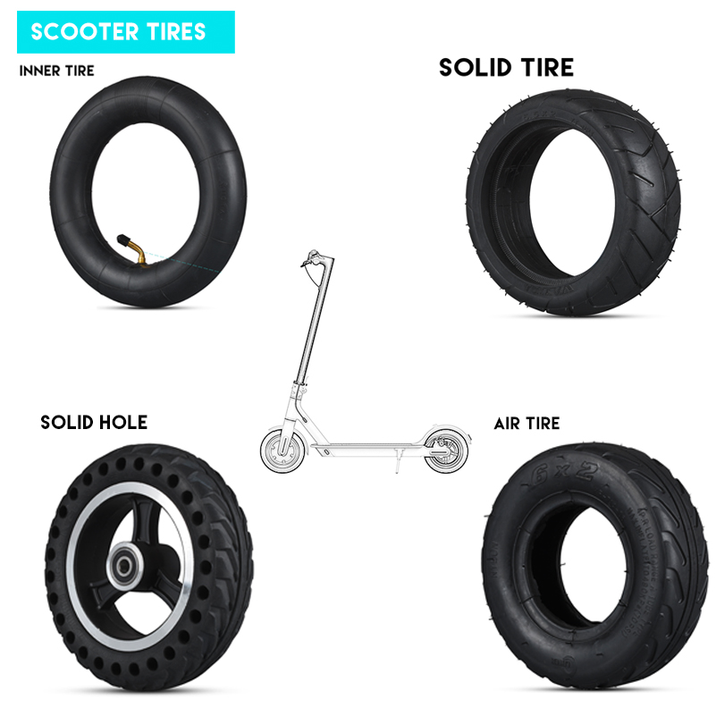 5.5/6/8/8.5/10/12 inch Electric Scooter Tires Inner Inflation Tyres Solid Hole Tire Wheel Tube Tire For Xiaomi M365 Mijia Pro