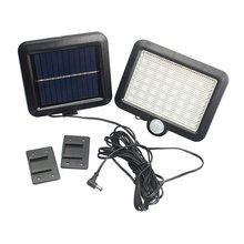 100 светодиодов солнечной энергии Открытый водонепроницаемый садовый забор патио Безопасности Инфракрасный датчик движения из PIR светильник Настенный ночник