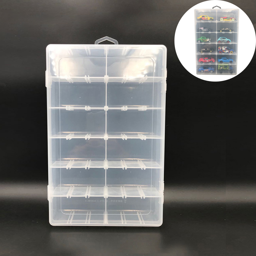 12 Grids PVC Toy Car Display Boxes For 1:64 Model Car Toy Display Box Transparent Storage Cases