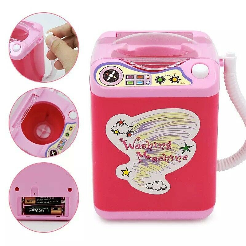 Washing Toys Mini Electric Washing Machine Cosmetic Sponge Makeup Brushes Cleaner Wash Tools