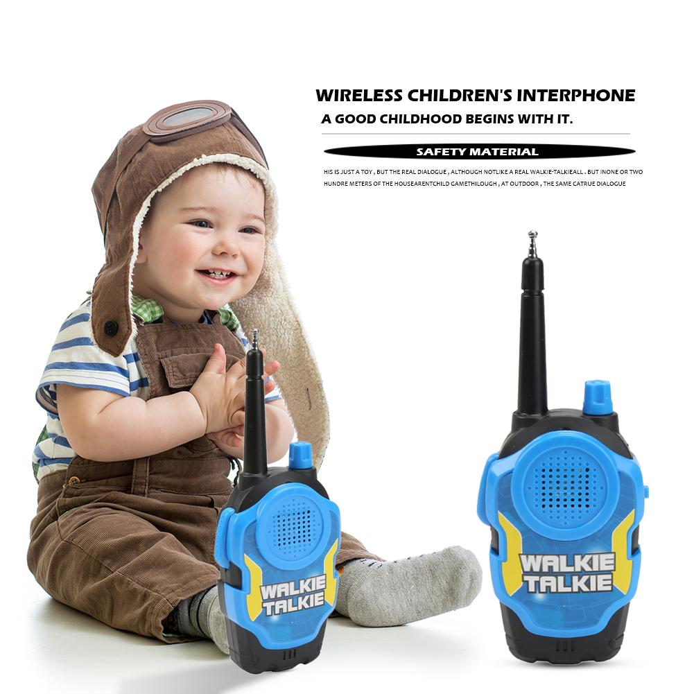 2pcs Remote Wireless Call Electric Walkie-Talkie Toy Environmentally Protection ABS Plastic For Children Christmas Gift