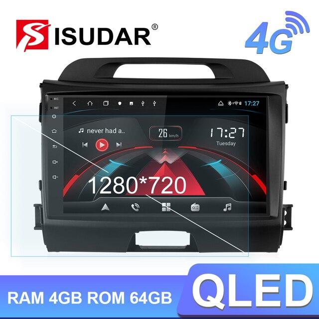 Isudar H53 4 グラムアンドロイド 1 喧騒オートラジオkia/sportage車のマルチメディアプレーヤーオクタコアram 4 ギガバイトrom 64 ギガバイトgps usb dvrカメラdsp