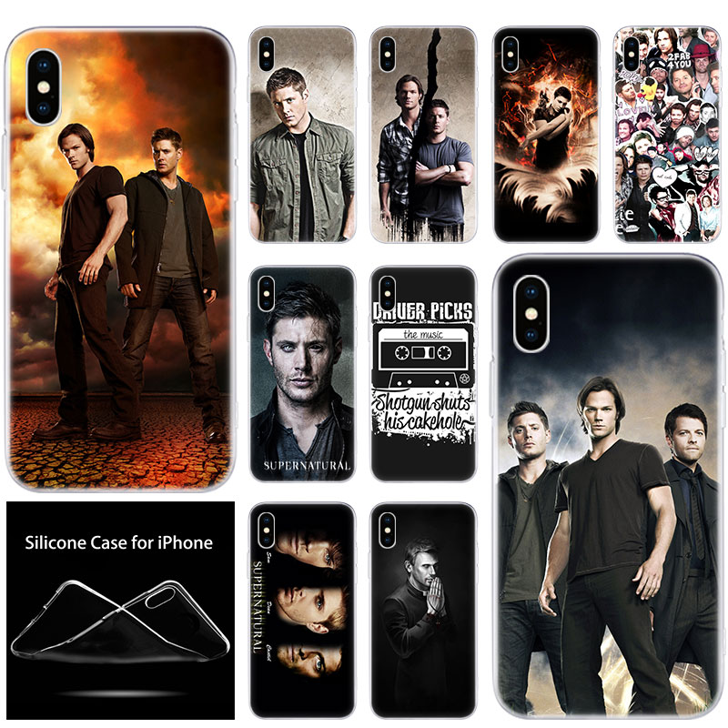 luxury Soft Silicone Phone Case TV Show Supernatural for Apple iPhone 11 Pro XS Max X XR 6 6S 7 8 Plus 5 5S SE Fashion Cover image