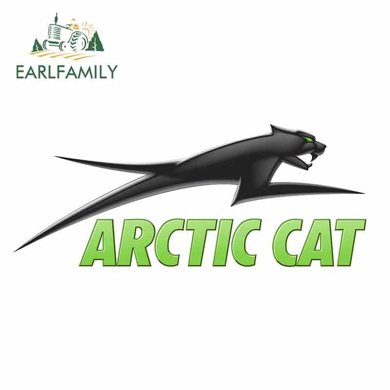 EARLFAMILY 13cm x 5.3cm ARCTIC kedi logosu araba çıkartmaları vinil JDM tampon gövde kamyon ekran cam tampon windows çıkartması