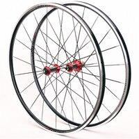 Road bike climbing wheel set ultra light Carbon fiber hub bearing race 700C road Bmx bicycle wheel set V brake 100 / 130mm