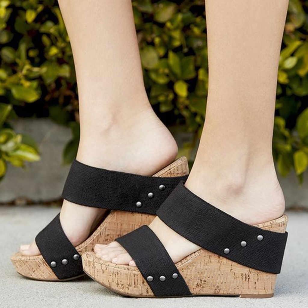 Sagace Romeinse Slippers Womens Ademende Dikke Bodem Retro Wedge Sandalen Flats Romeinse Slippers Vrouwelijke Slippers Vrouwen Strand Schoen