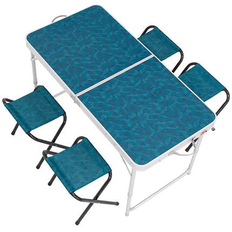 Folding Table Outdoor Portable Folding Table And Chair Camping Simple Dining Table Set For 4 6 People Outdoor Tables Aliexpress