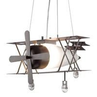 American Industrial Vintage Pendant Lamp Metal Shade Plane Shape E27 Creative LED Hanging Lamps for Kids Children Bedroom