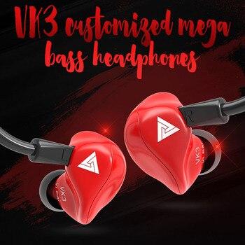 ¡Novedad de 2020! Auriculares QKZ VK3 con Edición especial, auriculares bajos nítidos con micrófono de Metal y graves fuertes, Auriculares deportivos para juegos