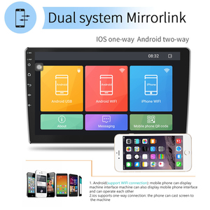 Image 3 - Podofo Android 2din araba radyo ses Stereo araba Autoradio GPS navigasyon Bluetooth WIFI Mirrorlink MP5 çalar radyo araba Autoradio