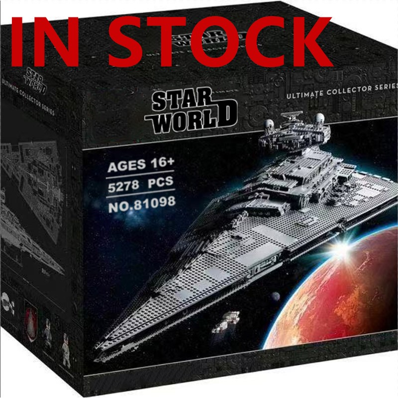 81098 Star Compatible With 75252 Imperial Star Destroyer UCS Fighters Buidling Blocks Bricks Educational Toys Birthday Gifts|Blocks| |  - title=