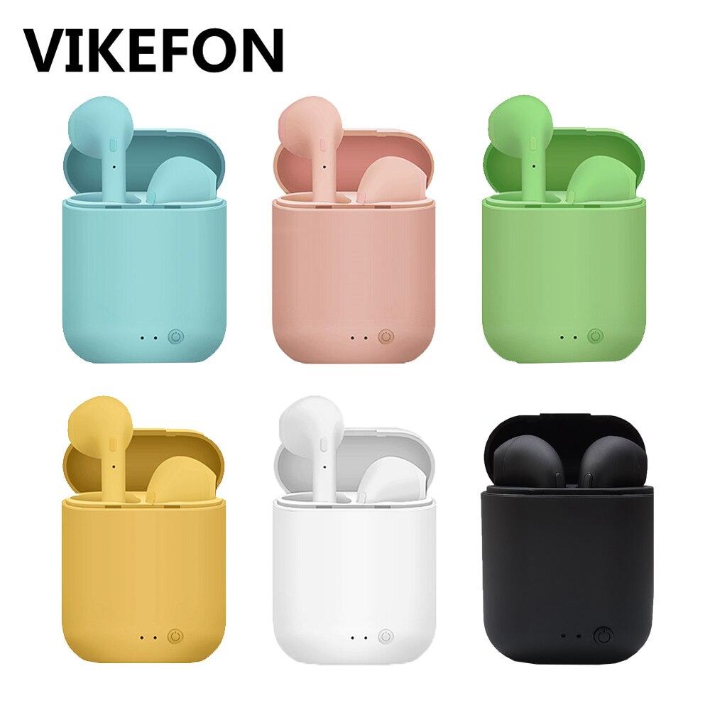 Мини 2 TWS беспроводные наушники Bluetooth 5,0 наушники матовые Macaron наушники Handsfree с микрофоном зарядная коробка беспроводная гарнитура