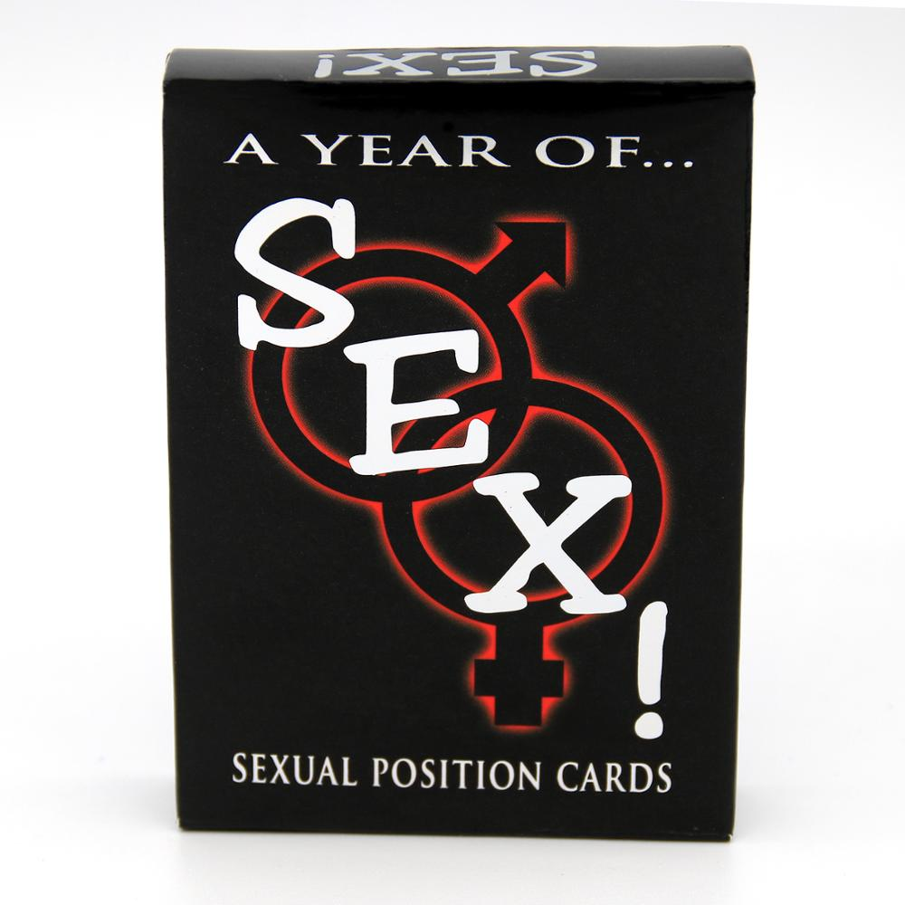 Fantasiex Possible Sexual Positions Playing A Year Of Sex for Adult Sexy Game Cards Sets For Couple Sex Cards Bedroom Commands