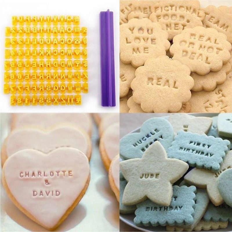 Alphabet Letter Number Cookie Press Stamp Embosser Cutter Fondant Mould Tools