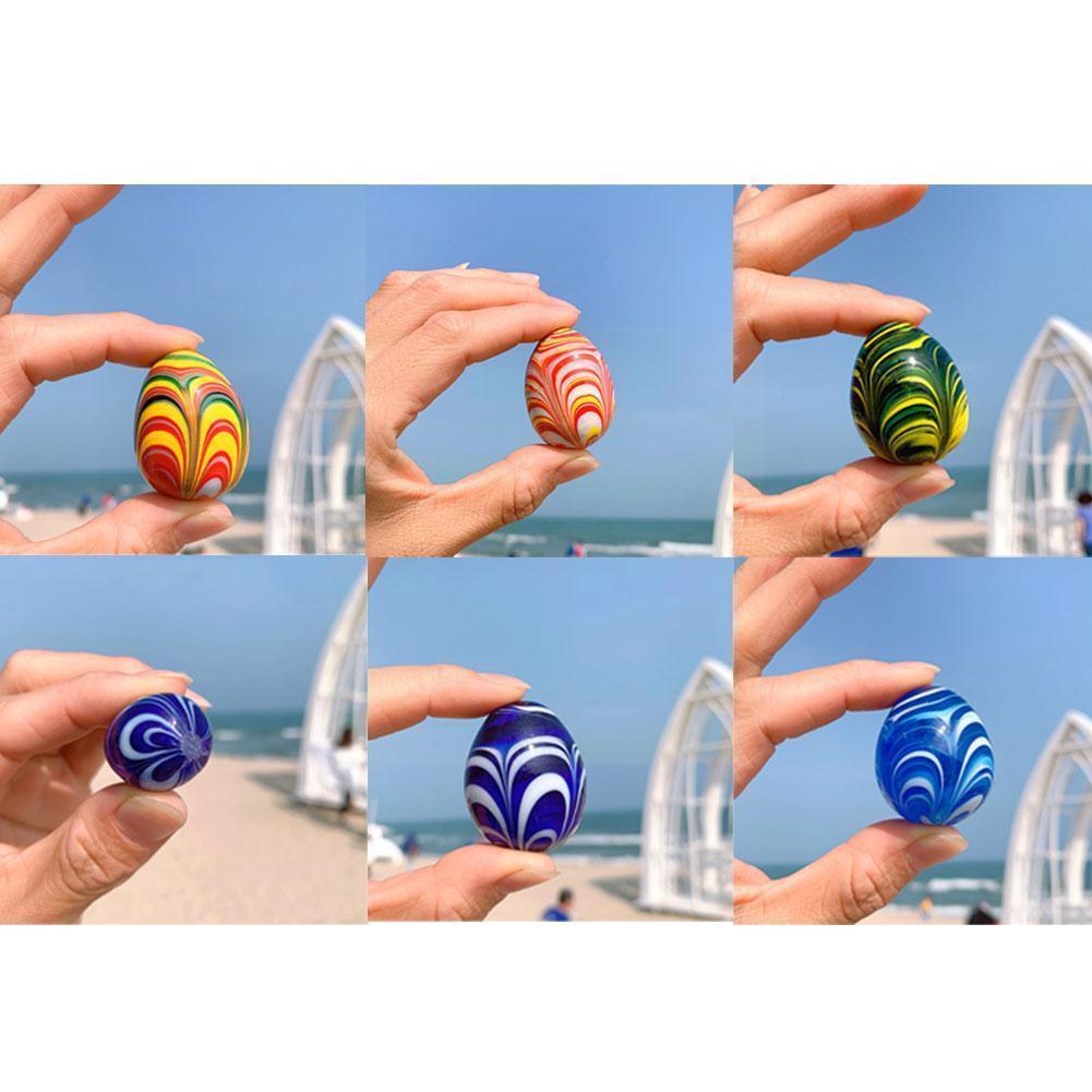 3 Colorful Stone Seabed Stone Egg Stone Mediterranean Fish Aquarium Decoration Landscaping Platform R3y8