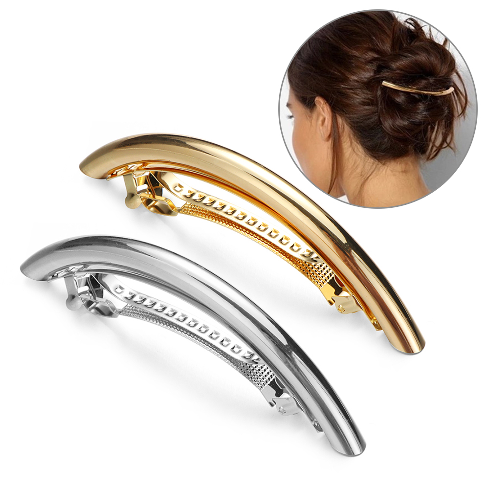 Fashion Women Long Hairpin Simple Metal Golden/Silver Hair Clip Pro Salon Use Styling Tools Hair Accessories