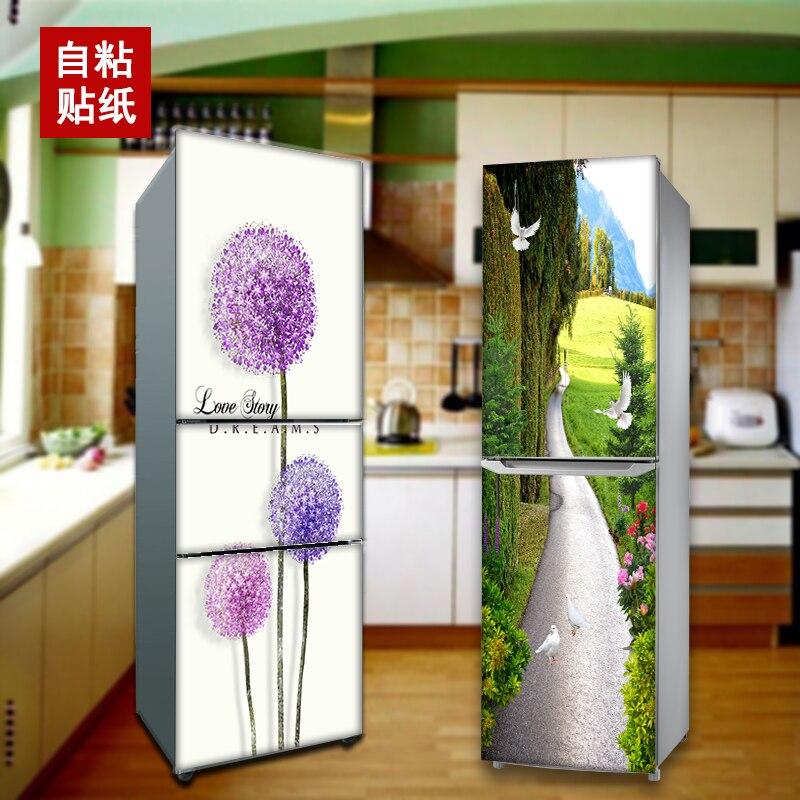 60*150 см нордический водонепроницаемый мультяшный магнит на холодильник в шкафу обновленная Настенная Наклейка креативный Милый лось декоративный плакат пленка на холодильник - 3