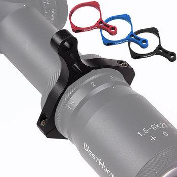 Przełącznik zasięgu polowania widok dźwignia do rzucania pierścień mocy 44mm 45mm średnica powiększenie regulacja góra luneta akcesoria tanie i dobre opinie WestHunter Inne Throw Lever Magnification Adjustment Tool Alluminum alloy BlackTube 44mm 45mm Black matte China