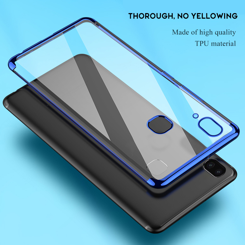 Soft TPU <font><b>Case</b></font> For <font><b>Samsung</b></font> A30 A50 A70 Cover For <font><b>Galaxy</b></font> A80 A10 <font><b>A40</b></font> A3 A5 2017 Anti-scratch Electroplating Protective <font><b>Phone</b></font> Bag image
