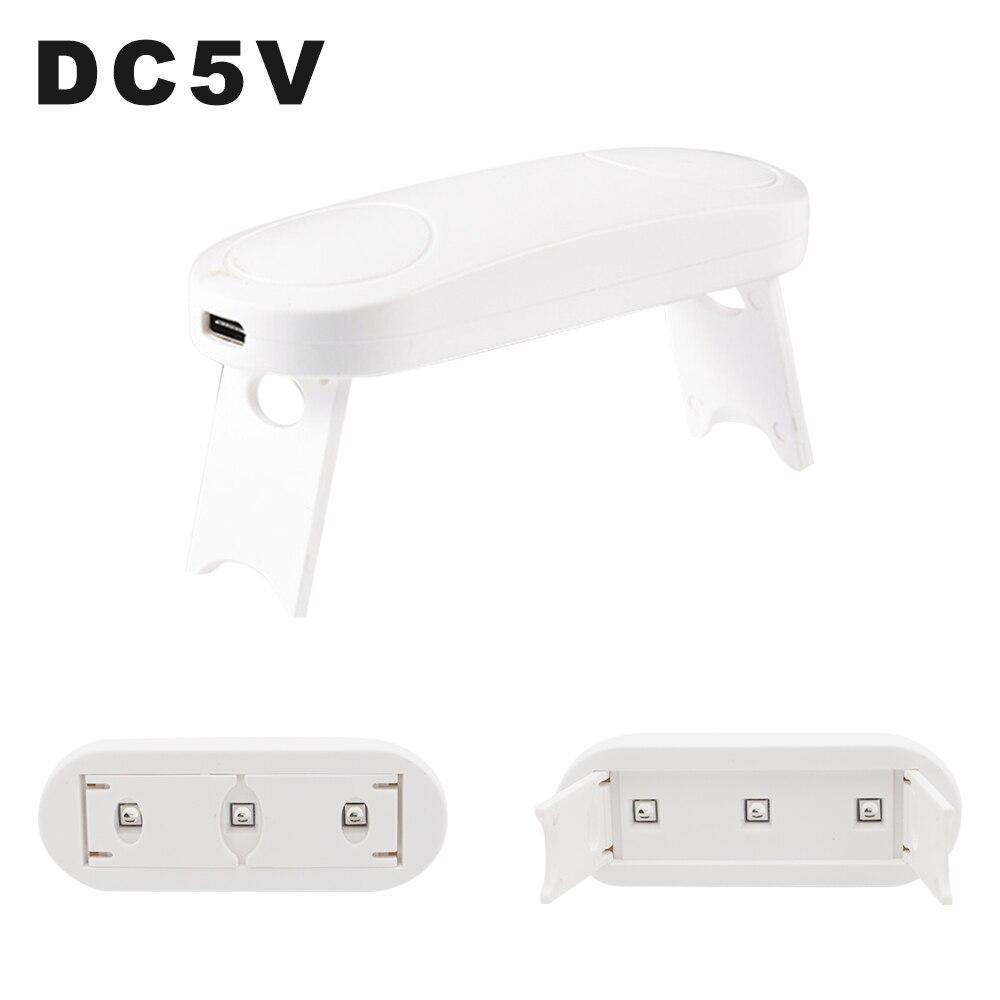 Светодиодный УФ-гель отверждения света DC5V Складная Лампа УФ-сушки с Android тип-c интерфейс для экрана телефона Proctector отверждения