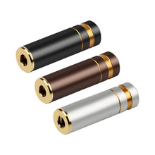 5pcs HIFI หูฟังแจ็ค 3.5 มม.อะแดปเตอร์มุม 3.5 มม.4 POLE Balanced หญิงทองแดงชุบทอง Minijack 3.5 DIY เสียง