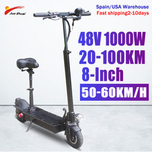 55KM/H Mini Adult Electric Scooter 8 Inch Folding Electrical Hoverboard 1000W Display Screen Electrico Kick E-Scooters Patinete