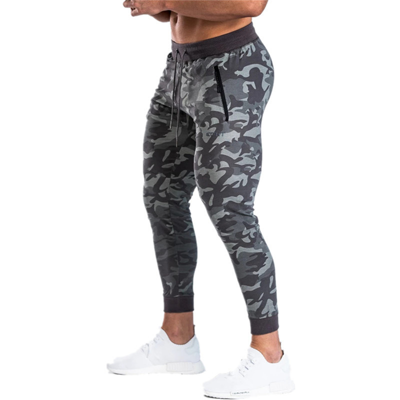2019 New Bodyboulding Mens Pants Gyms Sweatpants Brand Clothing Cotton Camouflage Trousers Casual Elastic Fit Joggers