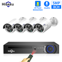 Waterproof-Kit Sesurity-Camera Poe-System Hiseeu CCTV Outdoor 1080P 8CH 1T ONVIF 5MP