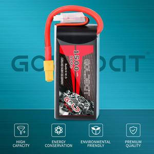 Image 5 - 1/2units GOLDBAT 1500mAh lipo Battery 4S 14.8V 100C Battery Pack for with XT60 Plug for fpv Drones Airplane FPV Racing
