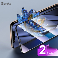 Benks 2 pc vpro vidro temperado agc para iphone 11 pro x xs max xr protetor de tela 3d borda curva de tela cheia película protetora frontal