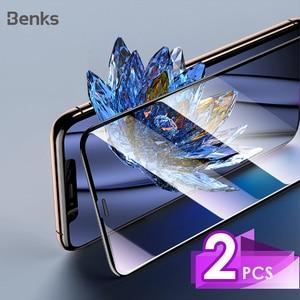 Image 1 - Benks 2PC VPRO מזג זכוכית AGC עבור iphone 11 פרו X XS Max XR מסך מגן 3D מלא מסך Curve קצה קדמי מגן סרט