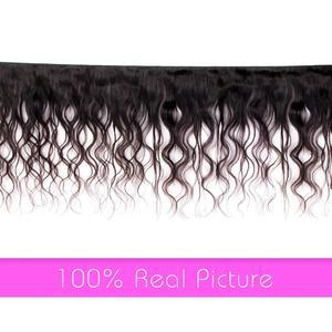 Image 2 - Body WAVEปิดผมบราซิลสาน 3 ชุดกับ 4*4 ปิดลูกไม้ 100% Remy Human Hairชุดพร้อมฝาปิด