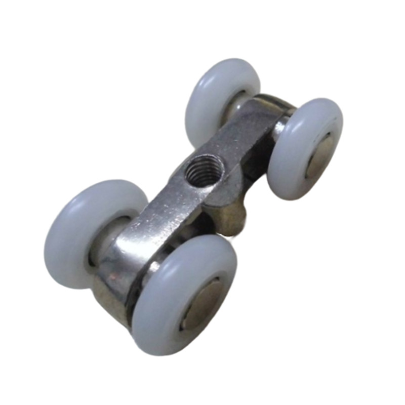 2Pcs Zinc Alloy Sliding Door 4 Wheels Roller Home Bathroom Wardrobe Wood Door Hanging Wheels For Furniture Hardware Wheel