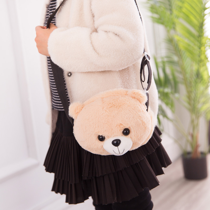 Cute Plush Teddy Bear Backpack Kawaii Bear Backpack Stuffed Bear Toy Children Crossbody Bag Gift Kids Toys For Girl