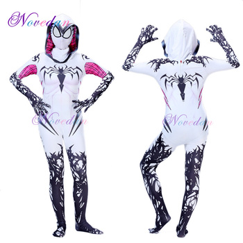Spider Gwen Costume Spandex Zentai Venom Superwoman for Halloween Cosplay Suit Jumpsuit Costumes