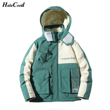 HALACOOD Hot Fashion Brand Winter Down Jacket Men Casual Duck Down Coat Thickening Warm Hooded Windproof Mens Jacket Plus Size