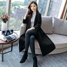 liser 2019 spring and autumn new loose and slim large casual temperament medium length over knee